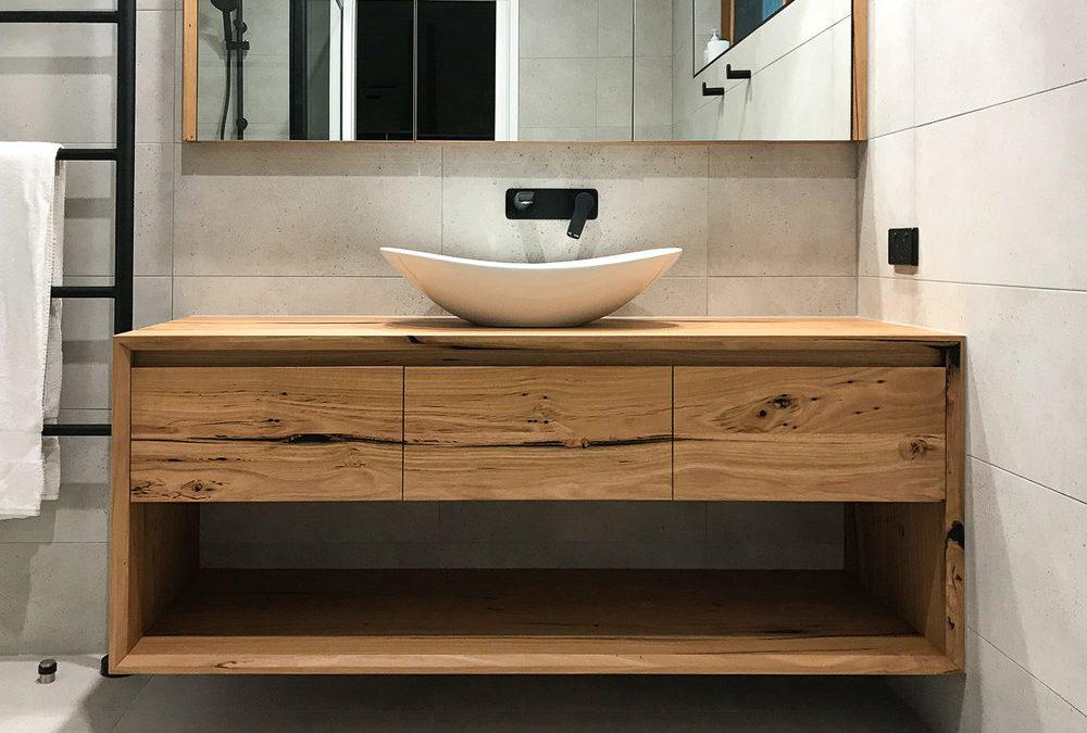 Timber furniture for bathroom