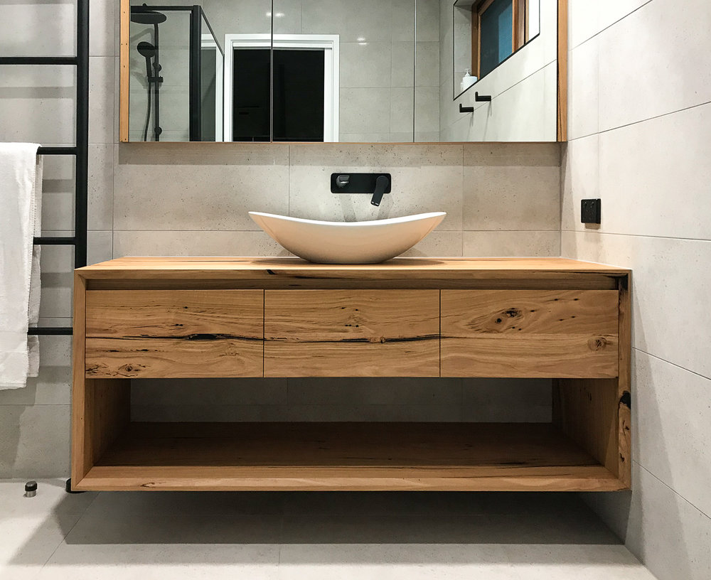 Timber furniture for bathroom