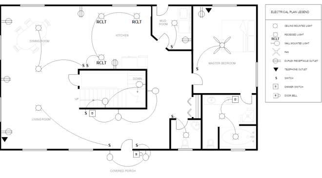 electrical plan interior design