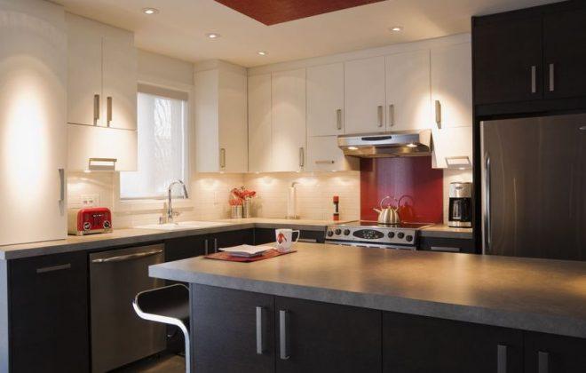 electricians wiring kitchen